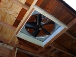 attic fan in place