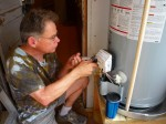 connecting the water heater