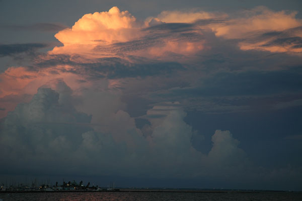 clouds over Corpus Christi bay