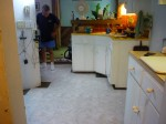 new floor partially done